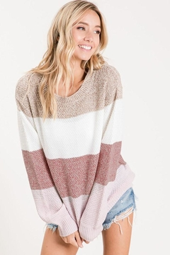 Bibi Multi Colorblock Knit Pullover Sweater - Product List Image