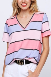 Bibi Multi-Colored Striped V-Neck - Other