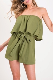 Bibi Olive Strapless Romper - Front cropped