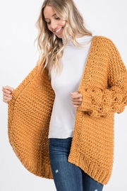 Bibi Handmade Popcorn Bubble Pom Pom Sleeve Cardigan - Product Mini Image