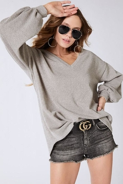 Bibi Soft Balloon Sleeve Top - Product List Image