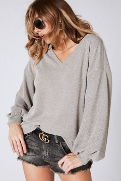 Bibi Soft Balloon Sleeve Top - Alternate List Image