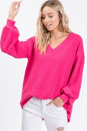 Bibi Soft Balloon Sleeve Top - Front full body