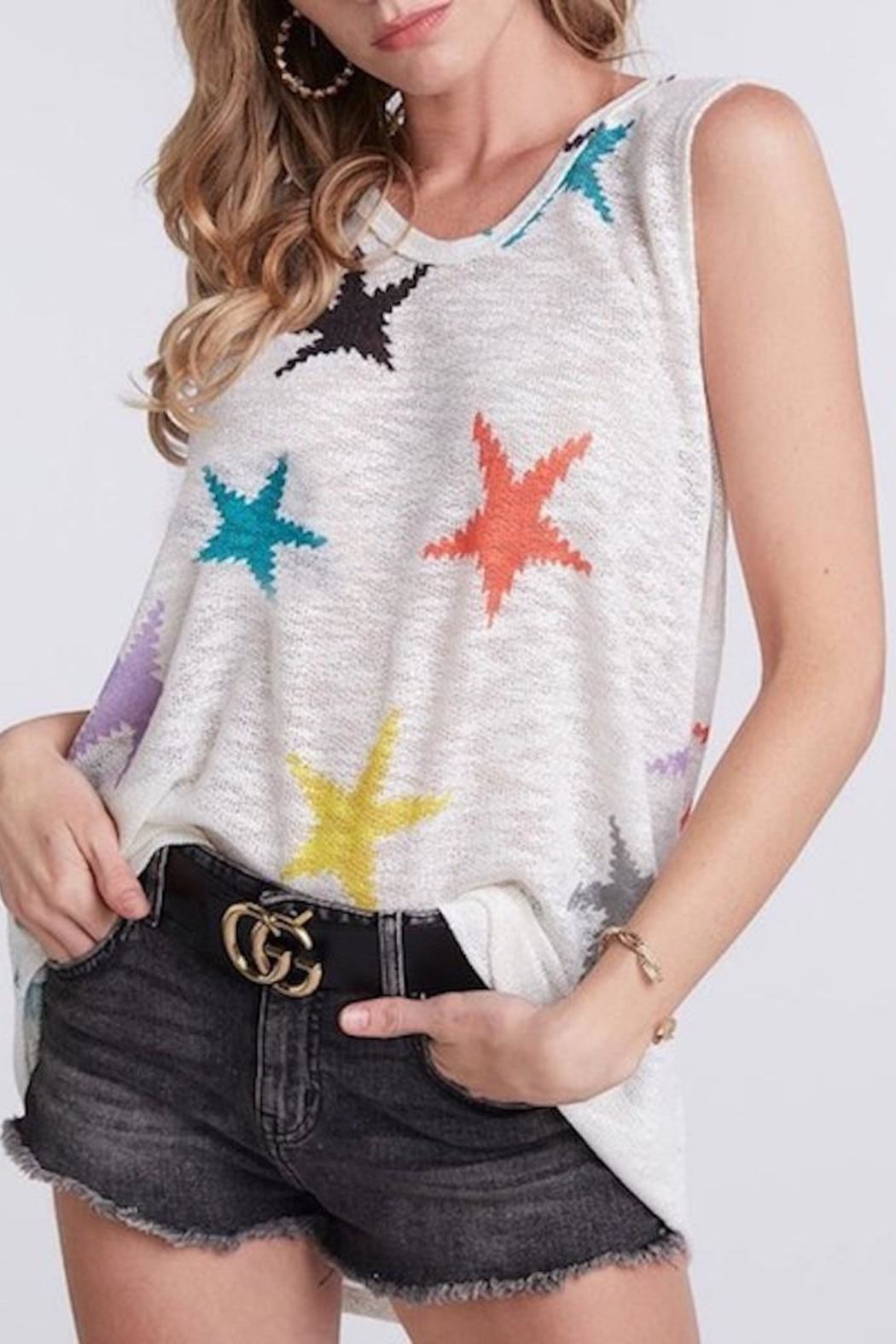 Bibi Star Knit Top - Main Image
