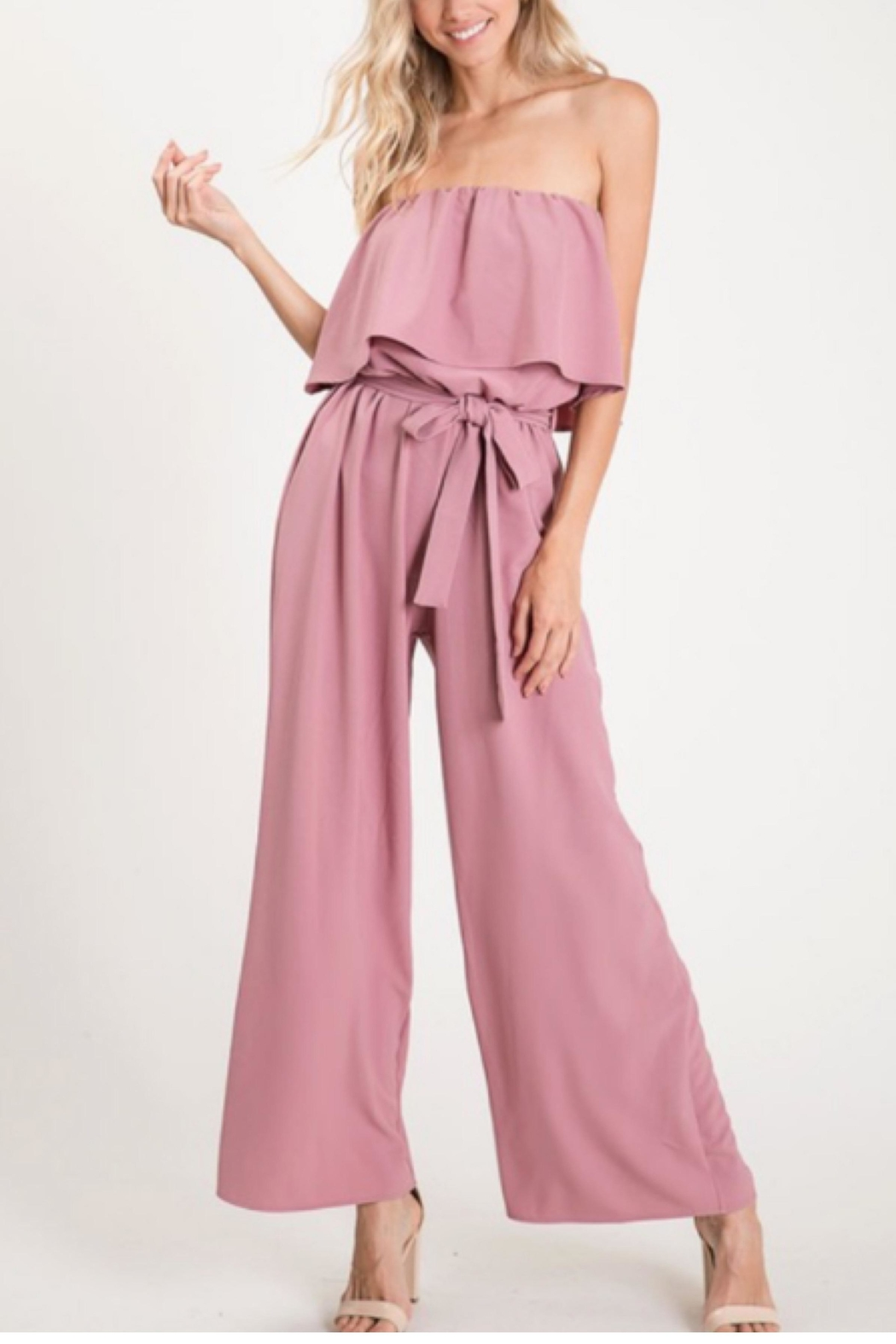 Bibi Strapless Jumpsuit - Front Cropped Image