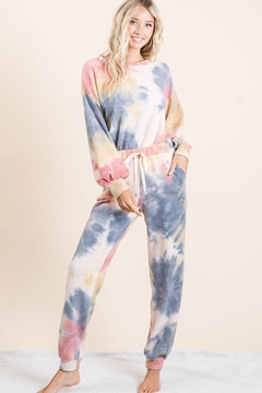 Bibi Super Soft Tie Dye Brushed Terry Top And Bottom Set - Alternate List Image