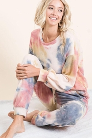 Bibi Tie Dye Brushed Terry Loungewear Pajama Set - Product Mini Image