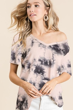 Bibi Tie Dye Loose Fit Top - Alternate List Image