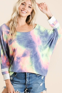 Bibi Tie Dye Terry Top - Alternate List Image