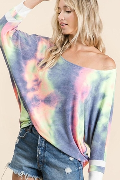 Bibi Tie Dye Terry Top - Product List Image