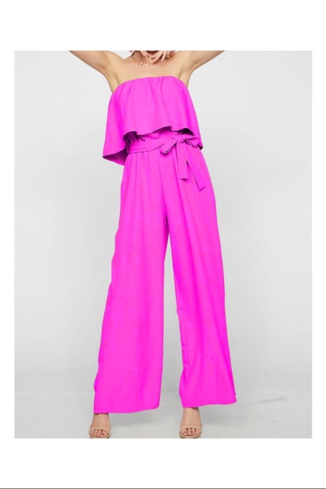 Bibi Tube Top Jumpsuit - Front Cropped Image