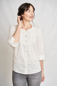 Bibico Florence Collarless Blouse - Product List Image