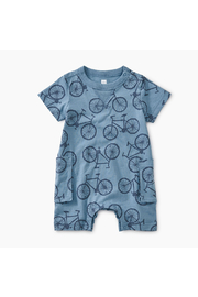 Tea Collection Bicycle Print Romper - Product Mini Image