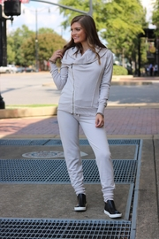 On The Road Biege Joggers - Front full body