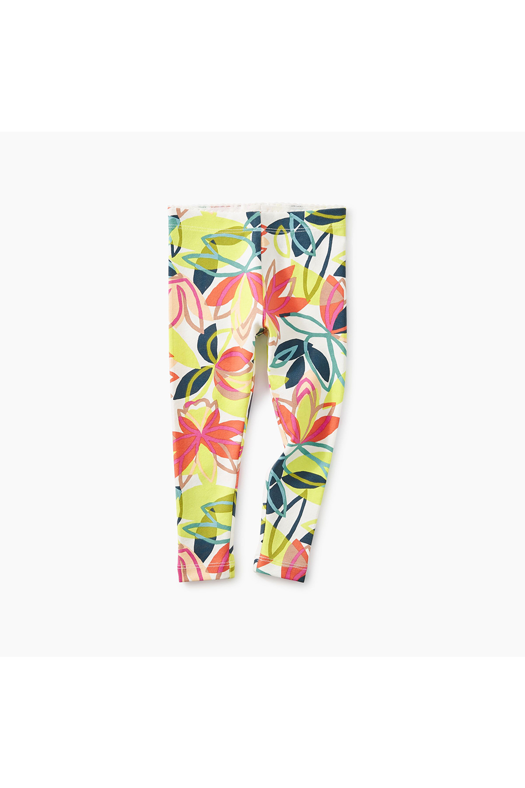 Tea Collection Big Blooms Baby Legging - Front Full Image