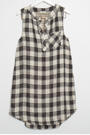 Dylan Big checks sleeveless dress - Product Mini Image