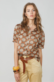 Summum Big Dot Cotton Blouse - Product Mini Image