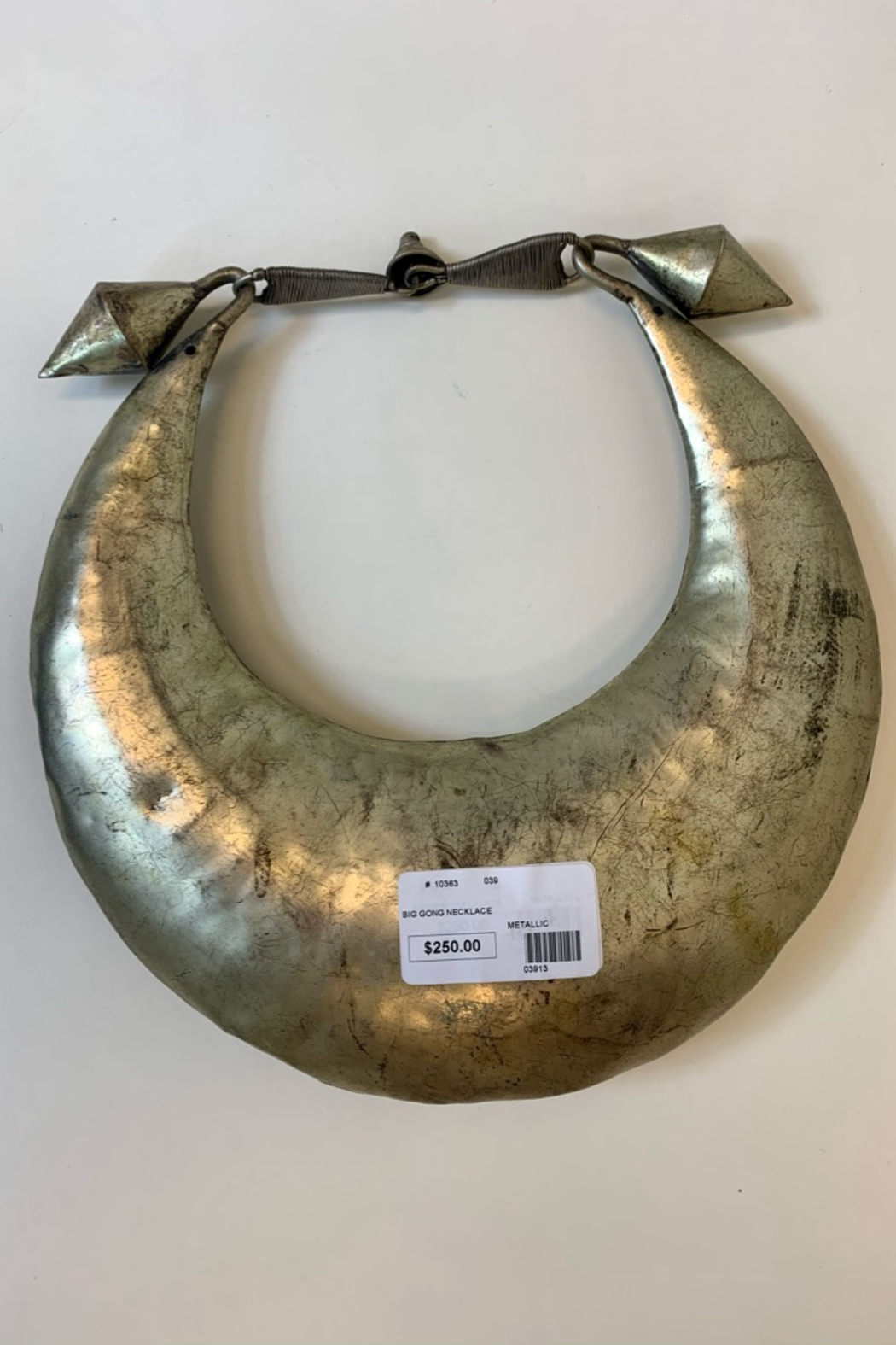 TIBET CRAFT INC BIG GONG NECKLACE - Front Full Image
