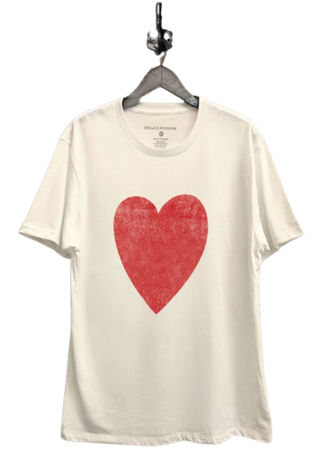 Black Sparrow Big Heart Boyfriend Tee - Front Cropped Image