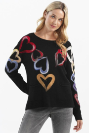 Charlie B.  Big Heart Sweater - Product Mini Image