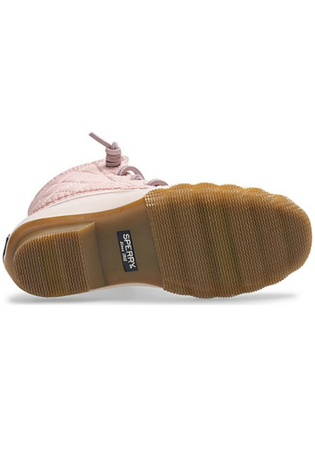 Sperry Big Kid's Saltwater Boot in Blush - Back Cropped Image