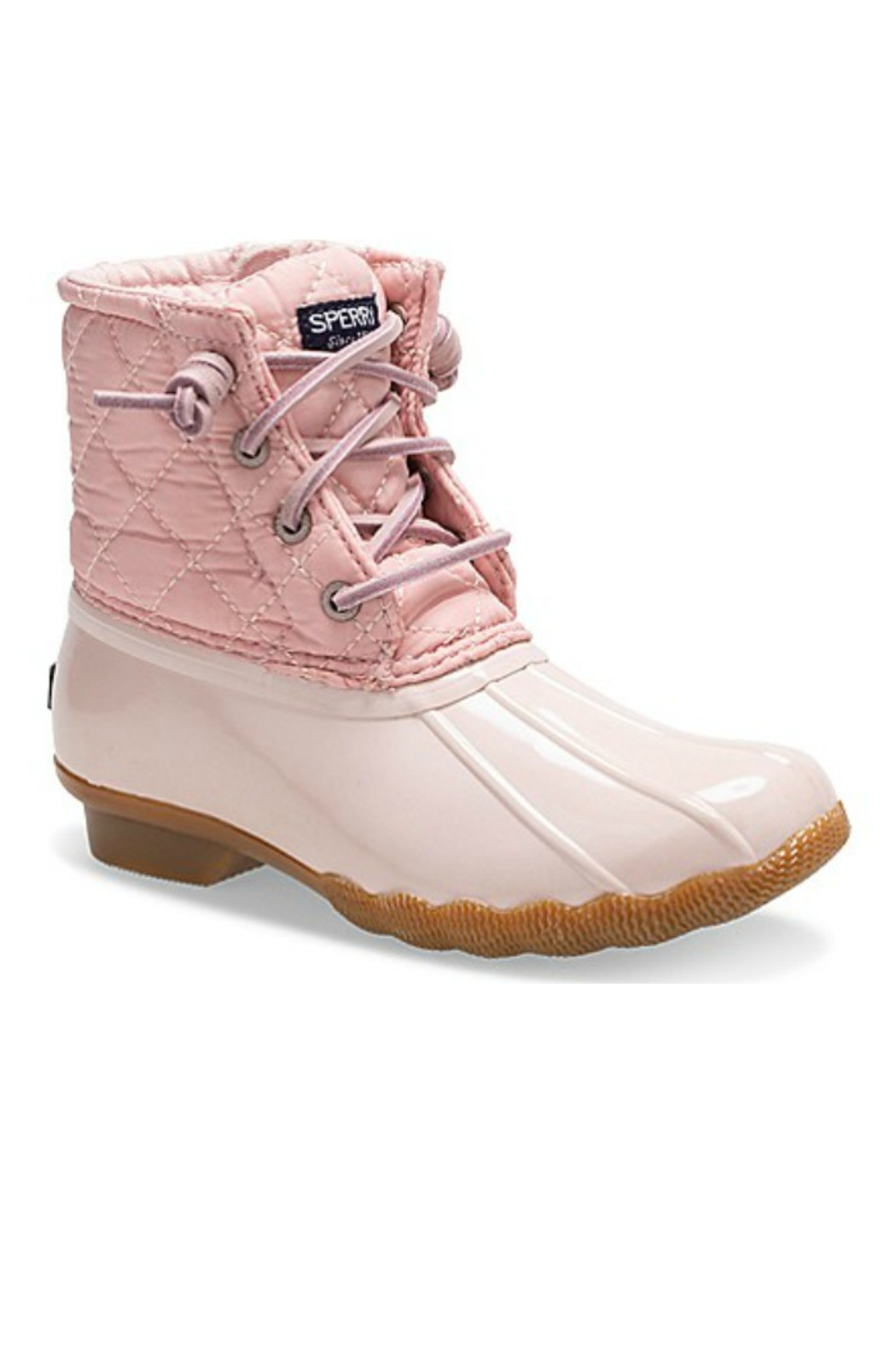 Sperry Big Kid's Saltwater Boot in Blush - Main Image