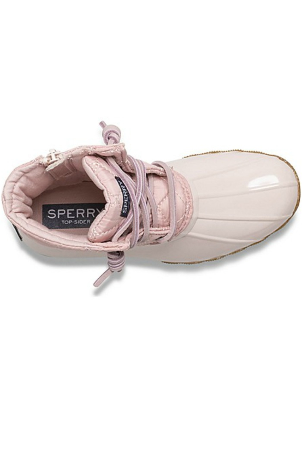 Sperry Big Kid's Saltwater Boot in Blush - Side Cropped Image