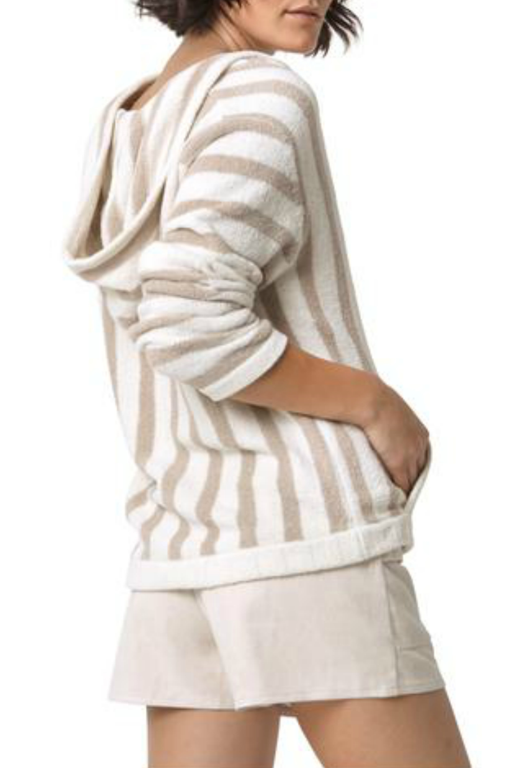 Astars Big Love Striped Soft Pullover - Front Full Image