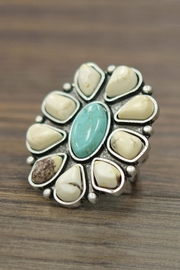 JChronicles Big Natural-Turquoise Adjustable-Ring - Product Mini Image
