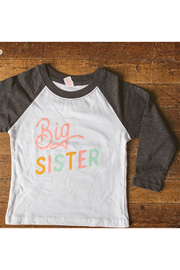Sweetpea and Co. Big Sister Raglan Tee - Front cropped