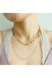 ellison & young Big & Small Double Chain Link Necklace - Product Mini Image