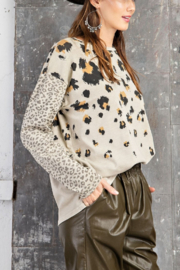 Easel  Big & Small Leopard Top - Product Mini Image