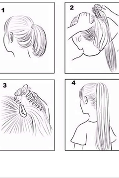 No Label  Big Spiral Ponytail - Alternate List Image