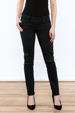 Shoptiques Product: Black Ripped Cigarette Jeans
