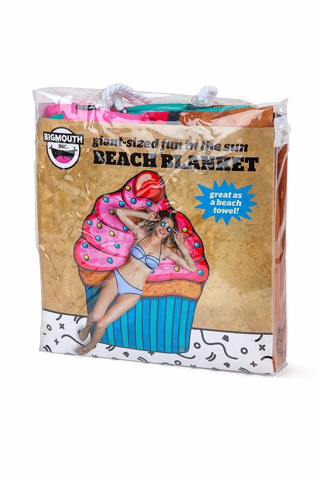 BigMouth Inc Cupcake Beach Blanket - Side Cropped Image