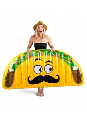 BigMouth Inc Giant Taco Pool Float - Front full body