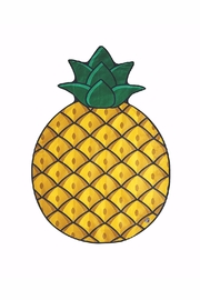 BigMouth Inc Pineapple Beach Blanket - Product Mini Image