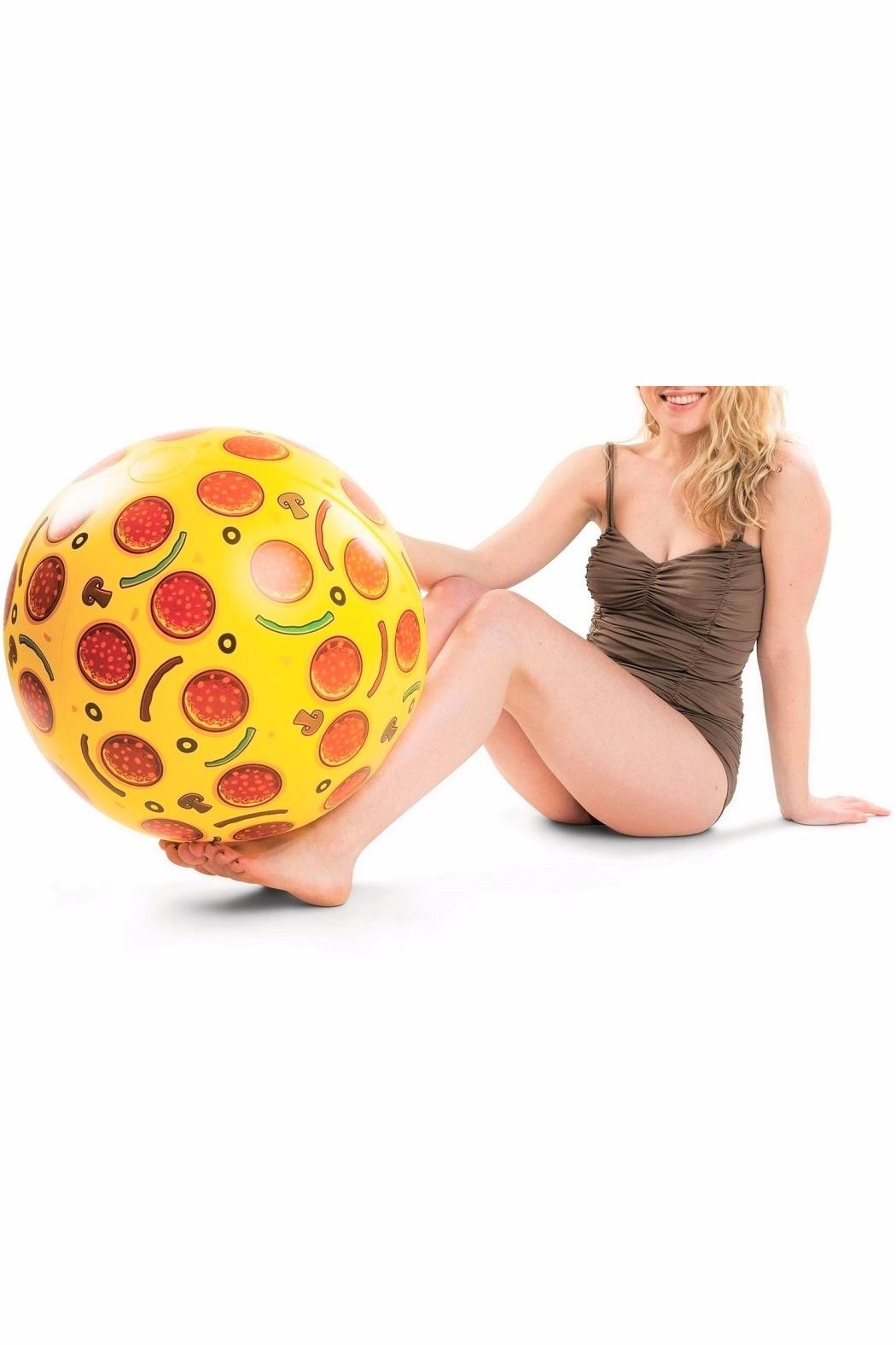 BigMouth Inc Pizza Beach Ball - Front Full Image