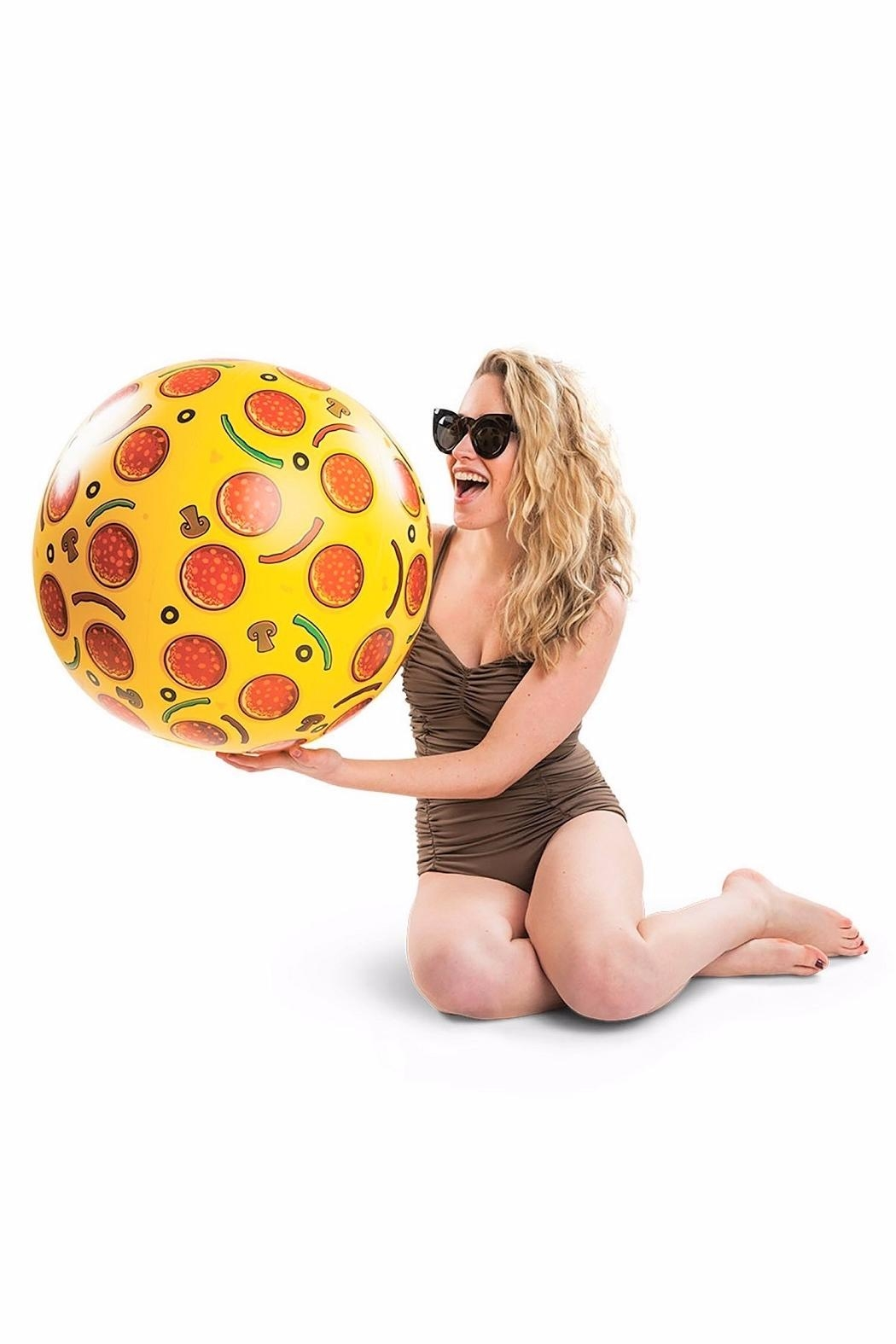 BigMouth Inc Pizza Beach Ball - Back Cropped Image