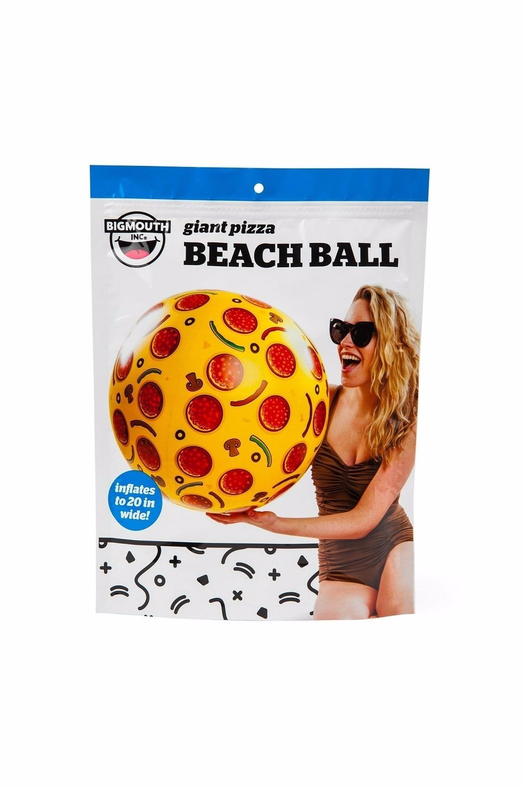 BigMouth Inc Pizza Beach Ball - Side Cropped Image