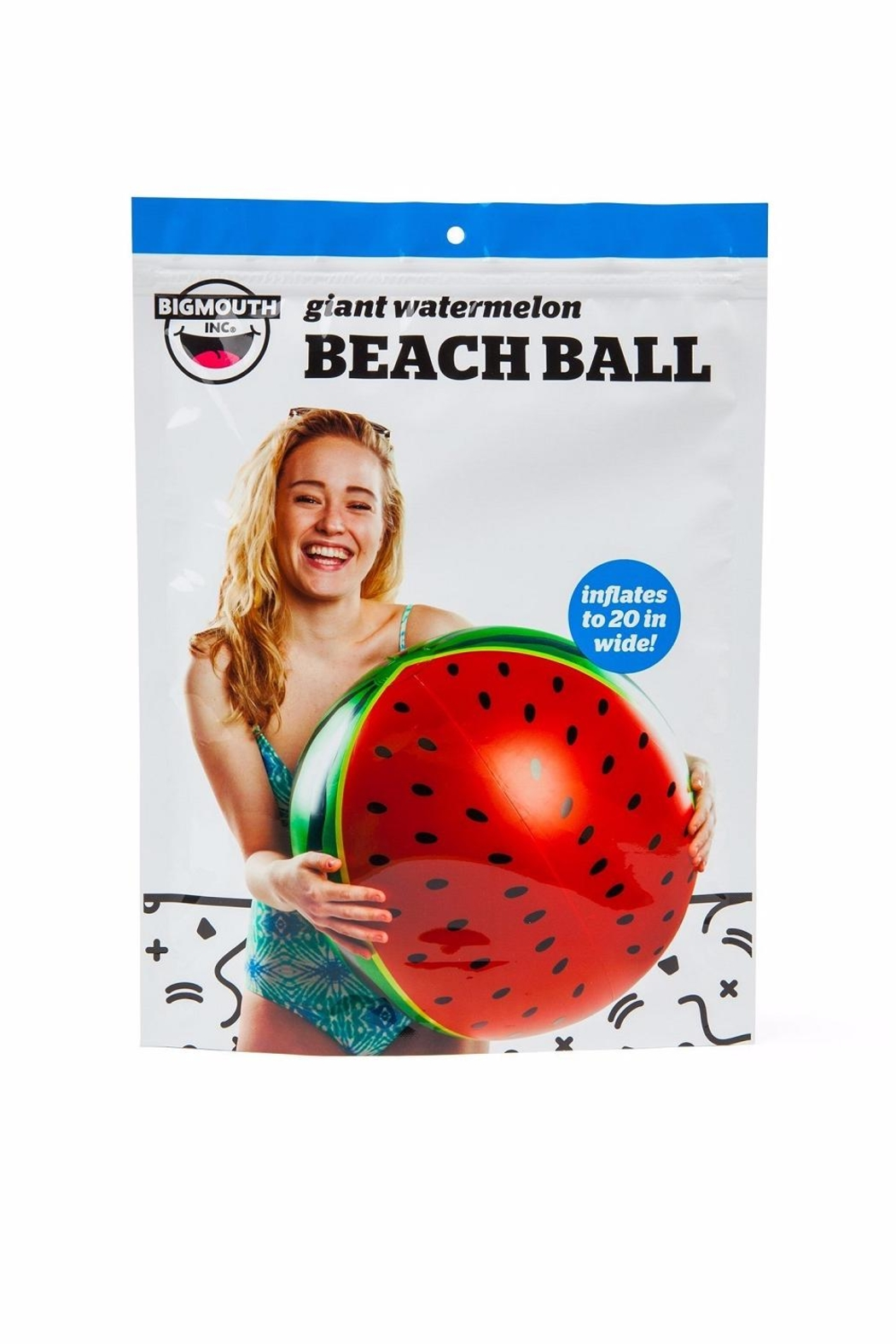 BigMouth Inc Watermelon Beach Ball - Side Cropped Image