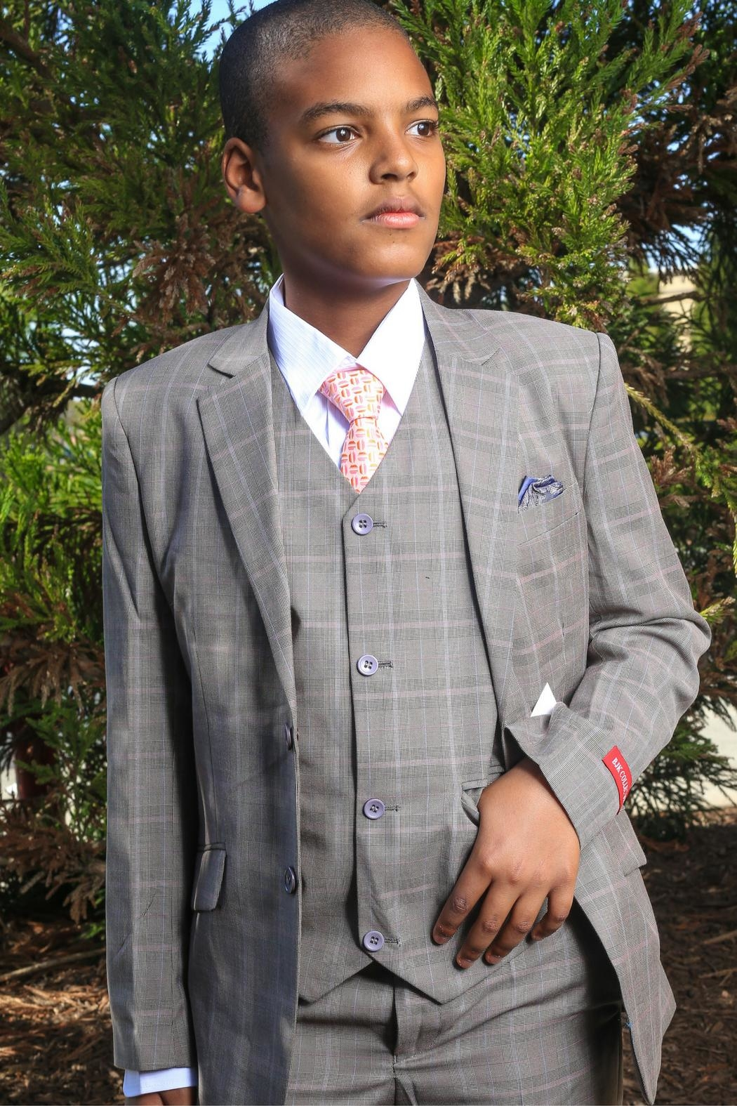 Bijan Houndstooth 5pc Suit - Main Image