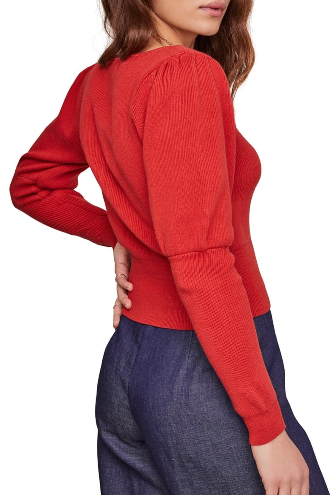 ASTR the Label Bijou Square Neck Sweater - Side Cropped Image