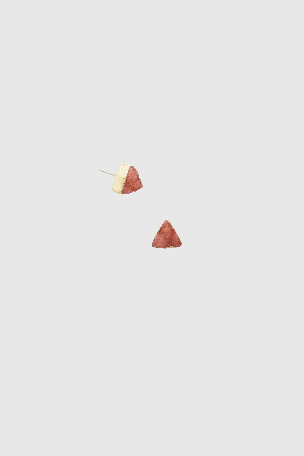 Bijoux Druzy Triangle Stud - Front Cropped Image
