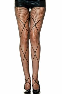 Shoptiques Product: Fishnet Diamond Stockings