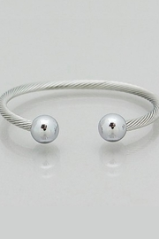 Bijoux Twisted Ball Cuff - Front cropped