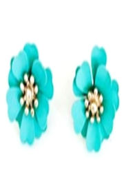 Bijoux du Monde Aqua Flower Earrings - Product Mini Image
