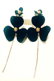 Bijoux du Monde Black Double-Flower Earrings - Product Mini Image