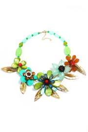 Bijoux du Monde Flower Statement Necklace - Front cropped