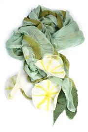 Bijoux du Monde Green Flower Scarf - Product Mini Image